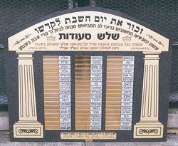 Synagogue Dedications