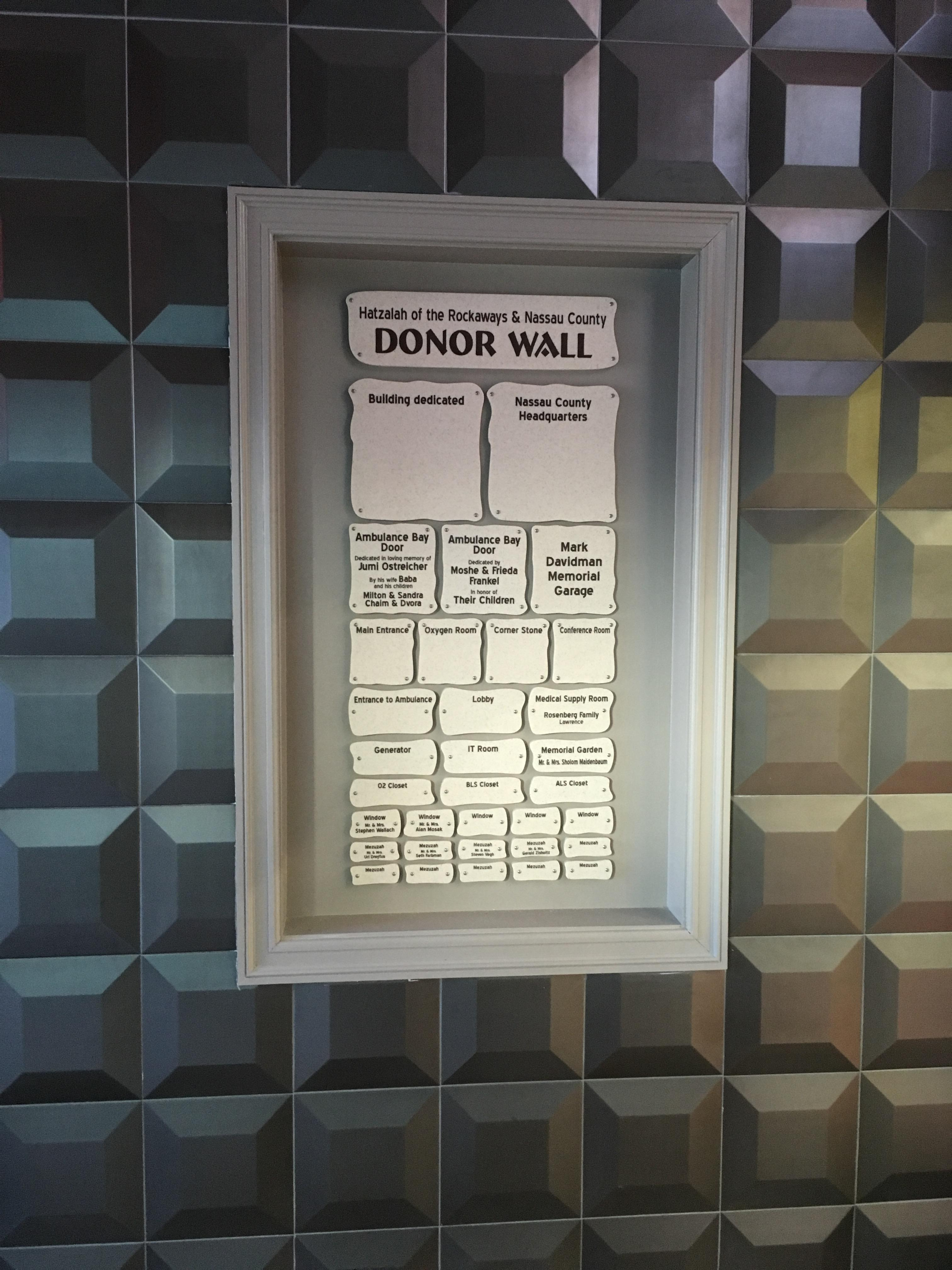 Donor Walls - dw1615